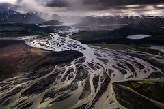 Mud Swirl (albert dros) Tags: mud river iceland travel albertdros plane moody weather storm mountains abstract