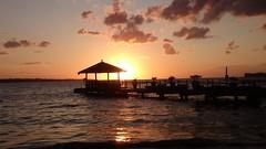 Bar im Sonnenuntergang