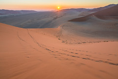Sunrise at Dune 45 (GioRetti) Tags: namibia desert sand dunes dune45 sunrise sun sanddunes