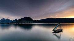 Talloires sunset (flo73400) Tags: talloires sunset toboggan landscape mountain le longexposure poselongue lacdannecy lake water