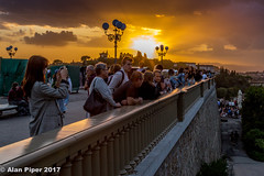 Watching the watchers, watching the sunset (PapaPiper) Tags: piazzalemichelangelo florence italy sunset people peoplewatching anticipation spectacle nature beauty tourists