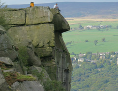 Keep the concentration up! (Nigel L Baker) Tags: ilkley couple rocks yorkshire