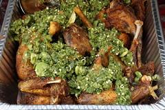 Ayam sambel, Pecel Ndeso, Indonesian street festival, East 68th St, Manhattan (Eating In Translation) Tags: uppereastside fairsandfestivals