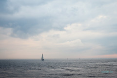 Alone sail (VladimirTro) Tags: россия санктпетербург russia russian saintpetersburg sky canon colour cloud clouds sea ship sail wave water boat light waterscape eos europe dslr outdoor photo photography 50mm море парус волна небо туча облака