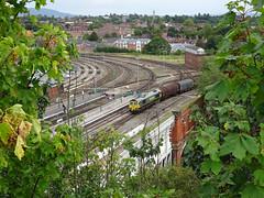 Freight train at Severn Bridge Junction (Dunnock_D) Tags: uk unitedkingdom britain england shropshire shrewsbury grey cloud cloudy sky freight train railway junction severnbridge bridge tracks