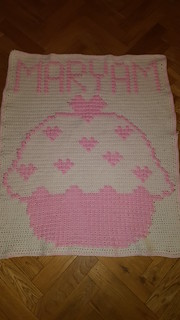 Cupcake blanket for Maryam