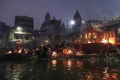 Manikarnika Ghat I (Michael Olea) Tags: 2015 travel asia india varanasi manikarnikaghat ghat