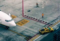 Italian taxi (simone.pelatti) Tags: airplane taxi lamborghini marconi airport sonya6000