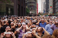 Sun Worshipers (michael.veltman) Tags: solar eclipse chicago illinois people looking up at the sun