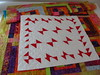 Red 'Liberated' Butterflies, designed by Janie 2017 (crazyvictoriana) Tags: modern liberated quilt abstract red white small art