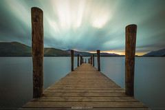 Ashness Jetty on Derwent Water (Behind Closed Doors Urbex) Tags: jetty lakedistrict lake water wood timber clouds sky sunset long exposure longexposure nd ndfilter andyk ashnessjetty derwentwater