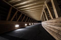 wooden bridge (tinfrey) Tags: 2017 architecture black bridge building cantonofberne dark lights night nightshot rubigen switzerland wood