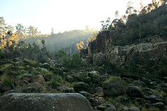 Terrain | Launceston, Tasmania (Ping Timeout) Tags: tasmania tassie state australia vacation holiday june 2017 island south commonwealth oz bass strait hobart tas nature view scene scenery rough terrain rock rocky cliff hill sun morning sunrise outdoor light tree green moss cold weather valley cataract gorge park national public tourist attraction site grass