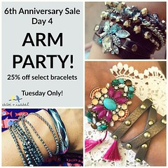 Day 4 Sale is Finally Here + It's an #ArmParty! Today ONLY, Get 25% Off select bracelets. So many great options to choose from + at great low prices for 1 day only! Shop: www.chloeandisabel.com/boutique/thecelticpearl  #Anniversay #Sale #Day4 #bracelets # (thecelticpearl) Tags: discount bracelets style thecelticpearl day4 trend save sale steal limited multiwrap shopping online promo accessories limitedtime trendy shop chloeandisabel fashion deal anniversay buy jewelry multiplelooks armparty trending trends boutique convertible hurry