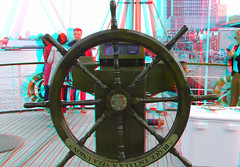 on The BAP Union Peru in Rotterdam 3D (wim hoppenbrouwers) Tags: the bap union peru rotterdam 3d anaglyph stereo redcyan serie unión sailing vessel