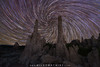 South Tufa Spiral Star Trails (Mike Ver Sprill - Milky Way Mike) Tags: south tufa mono lake california landscape nightscape vortex spiral star trails startrails stars trail north polaris unique abstract nature twisting twist mars night sky skies dark milky way mike