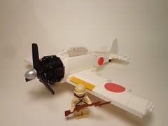 (Redux) Mitsubishi A6M 'Zero' (JW_Productions) Tags: mitsubishi a6m zero wwii plane aircraft japanese pacific lego