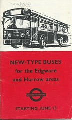 New-Type Buses for the Edgware and Harrow areas (Ray's Photo Collection) Tags: scan scanned document lt londontransport book booklet edgware harrow bus buses middlesex london londonboroughofharrow londonboroughofbarnet