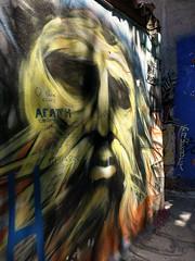Athens street art - Yellow bearded man (ashabot) Tags: athens athensgreece streetart 2017 yellow faces greece art