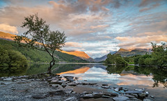 Snowdonia Sunset (Phil Durkin) Tags: 2017 hike hiking mountain snowdon snowdonia wales cloud mist outdoors ridge summer walking llambaris sunset evening lake padarn