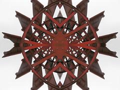 Gothic Wheel (Ed Sax) Tags: edsax abstrakt surreal art photokunst photoart hamburg schaufel schaufelrad schaufelraddampfer red white steampunk