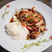 vietnamese roasted duck with rice and chili