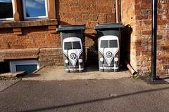 Pair of Campervan wheeliebins (stonetemplepilot5) Tags: sony vw bins sonya6000 a6000 dumfries scotland two pair