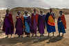 Masai women waiting for visitors at the gate to their village, Maasai Mara, Tanzania, June 2017 (Catherine Gidzinska and Simon Gidzinski/grainconno) Tags: 2017 africa june masai masaivillage tanzania clothes village women arusharegion tz