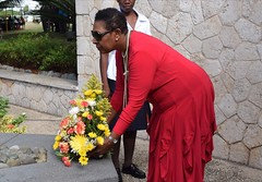 Floral Tribute to National Hero Marcus Garvey