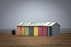Fin de saison à Berck-sur-Mer (Lucille-bs) Tags: europe france hautsdefrance pasdecalais nordpasdecalais bercksurmer plage sable cabine couleur findesaison mer