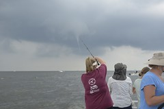 Beyond BOW Rockfishing (Maryland DNR) Tags: 2017 becominganoutdoorswoman beyondbow rockfishing charterboat tracyslanding annearundelcounty waterspout summerstorm storm