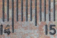 Caliper scale (lenswrangler) Tags: lenswrangler digikam caliper rust macromondays 14 15 centimeter scale measure metal ruler