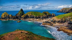 Cornwall - Kynance Cove Beach (Janusz Kudlak) Tags: cornwall kynancecove sea beach clouds uk england agnieszka ilovemywife myniu pastuch best sony alpha700 blue ocean photothebestofmimamorsgroups