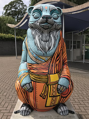 The Big Sleuth Trail 2017 - 77. Dharma (Karen Roe) Tags: thebigsleuth sunbear birmingham city gb greatbritain uk unitedkingdom apple iphone iphone7 mobile phone camera photography photograph photographer picture image snap shot photo karenroe female flickr tourist visit visitor august 2017 trail walk bears search find found charity auction artist sculpture art wildinart