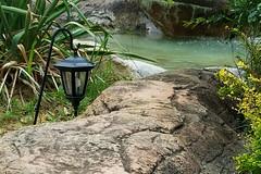 Lantern 07-01-17 (MelenaMe) Tags: lantern water path rock bushes serene custard miniature golf serenity waterfall cascade pond fountain rocks vineland nj