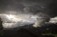 Stormy day (Lolo_) Tags: storm orage france cloud hautesavoie montblanc sunrise chalet thunderstorm nuage alpes megève ciel rainy montagne mountain demiquartier vauvrey combloux