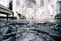 Storm surge, Worcester (Sean Hartwell Photography) Tags: crypt worcester cathedral church water wave stone medieval religion architecture