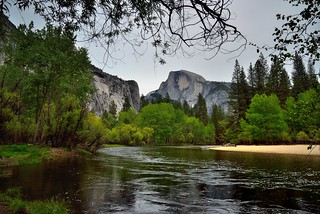 A River Setting to Take in Half Dome (Yosemite National Park)