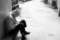 Long Day... (superzookeeper) Tags: 5dmk4 5dmkiv hk hongkong canoneos5dmarkiv ef2470mmf28liiusm people longday sleep taio monochrome blackandwhite eos bnw digital favorites bokeh street