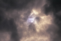 The Dragon comes for the Sun (G.E.Condit) Tags: gecondit grantcondit eclipse nm albuquerque clouds cloudy sky sun nature astronomy 6d