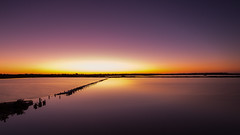 Sunset over Geelong, Victoria, Australia (Chas56) Tags: water sky sunset landscape dam geelong canon nd le longexposure ndfilter canon5dmkiii