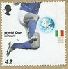 UK 42p Postage Stamp - World Cup Winners Italy (Ray's Photo Collection) Tags: uk worldcupwinners postagestamp postage stamp timbre briefmarke footnall scooer sport italy royalmail
