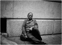 Untitled (Steve Lundqvist) Tags: new york usa states united america manhattan stati uniti travel trip viaggio traveling bw urban city urbanscape ny nyc monochrome nikon loner black white background broadway downtown depth street photography streets poverty pike place people portrait homeless