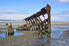 IMG_3823-on4-sig (KitePhotography) Tags: shipwreck iredale peteriredale northwest pacific ocean beach sand water ship canon eos sl1 100d rebel rust steel sea iron tamron tamron16300 tamronaf16300mmf3563diiivcpzdmacro shoreline oregoncoast coast wreck
