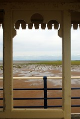 Looking out from Southport Pier (zawtowers) Tags: southport merseyside north west england cloudy dry sunday 22nd august 2017 day out visit seaside resort destination beach sea pier second longest pleasure grade ii listed victorian opened 1860 looking through arch gap sand marsh marshes frame window