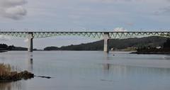 Puente sobre la ria de Arosa (Bvil) Tags: puente tren catoira mar galicia