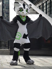 Toxic bat-dragon (C_Oliver) Tags: londonfurs furmeet england london ec4 fleetplace furs furries fursuit fursuiter costume toxin bat wings dutchangeldragon