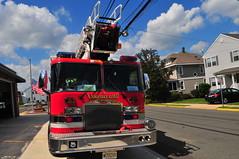 Lawrence Road Fire Company Telesquirt 22 (Triborough) Tags: nj newjersey mercercounty lawrencetownship lawrenceville lawrenceroadfirecompany firehouse firetruck fireengine engine telesquirt squirt telesquirt22 kme firestix