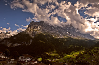 Twilight time on Grindelwald and tha Mighty Eiger.  In the memory of the amazing Ueli Steck (4 October 1976 – 30 April 2017 ) .No. 9000.