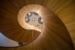 Spiral Staircase, Citizen M Hotel, Bankside (northcountrygirl) Tags: london sigma1020 staircase spiral wood canon60d southwark hotel abstract
